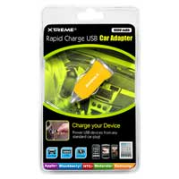 Xtreme Cables 1-Amp USB Car Charger Yellow