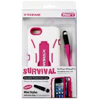 Xtreme Cables Survival Durable Protection Case for the iPhone 5 - White/Pink