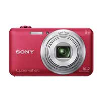 Sony Cyber-shot DSC-WX80 16.2 Megapixel Digital Camera - Red