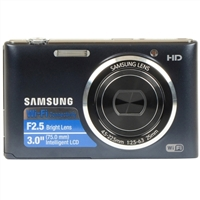 Samsung WB30 16 Megapixel Digital Camera - Cobalt Black