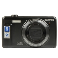 Olympus VR-370 16 Megapixel Digital Camera - Black