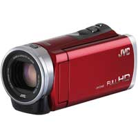 JVC Everio E300 2.5 Megapixel 1080p HD Digital Video Camera - Red