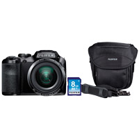 Fuji FinePix S6800 16 Megapixel Digital Camera Bundle - Black