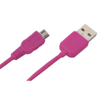Bytech 3.5' Micro USB Cable - Pink