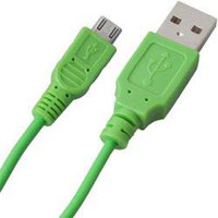 Bytech 3.5' Micro USB Cable - Green