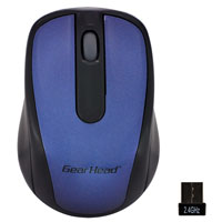 Gear Head 2.4 GHz Wireless Optical Nano Mouse - Blue