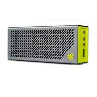 JLab The Crasher Portable Bluetooth Speaker with Phone Charging Port & Heavy Duty Battery - Sport Yellow/Gray