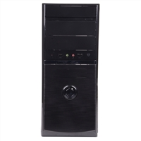 H.E.C. Compucase Enterprise Mid Tower  ATX / mATX Computer Case - Black