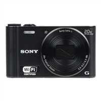 Sony Cyber-shot DSC-WX300 18.2 Mega Pixel Digital Ultra Compact Camera - Black