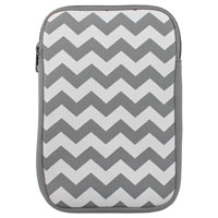 """Inland Chevron Sleeve Fits Screens up to 7"""" - White/Grey"""