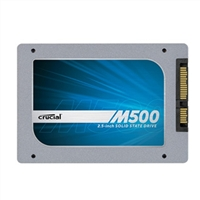 "Crucial M500 Series 120GB SATA 6.0Gb/s 2.5"" Internal Solid State Drive (SSD) CT120M500SSD1 with Marvell 88SS9187 Controller"