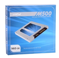 "Crucial M500 960GB SATA 6.0Gb/s 2.5"" Internal Solid State Drive (SSD) with Marvell 88SS9187 Controller"