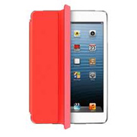 Aluratek Slim Color Smart Case for Ipad Mini - Red