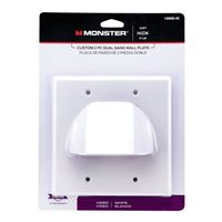 Just Hook It Up Custom 2-Piece Bulk Cable Wall Plate Dual Gang - White