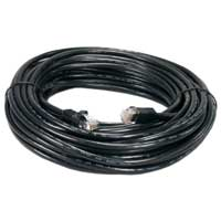 QVS 200' Category 6 Gigabit Flexible Molded Patch Cord - Black