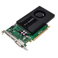 PNY VCQK2000-PB NVIDIA Quadro K2000 2048MB GDDR5 PCIe 2.0 x16 Workstation Video Card