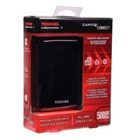 Toshiba Canvio Connect 500GB SuperSpeed USB 3.0 Portable Hard Drive - Black