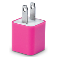 iEssentials 1 Amp USB Wall Charger - Pink