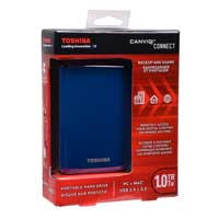 Toshiba Canvio Connect 1TB SuperSpeed USB 3.0 Portable Hard Drive - Blue