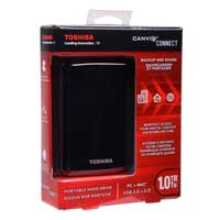 Toshiba Canvio Connect 1TB SuperSpeed USB 3.0 Portable Hard Drive - Black