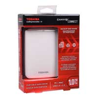Toshiba Canvio Connect 1TB SuperSpeed USB 3.0 Portable Hard Drive - White