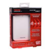 Toshiba Canvio Connect 1TB SuperSpeed USB 3.0 Portable Hard Drive - White