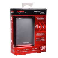 Toshiba Canvio Connect 1TB SuperSpeed USB 3.0 Portable Hard Drive - Silver