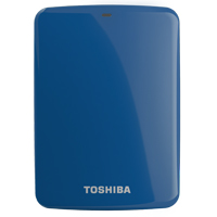 Toshiba Canvio Connect 2TB SuperSpeed USB 3.0 Portable Hard Drive - Blue