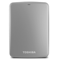 Toshiba Canvio Connect 2TB SuperSpeed USB 3.0 Portable Hard Drive - Silver