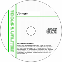 MCTS ViStart 8.1 Build 5077 Shareware/Freeware CD (PC)