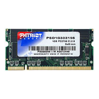 Patriot 1GB DDR-333 (PC2-2700) SO-DIMM Laptop Memory Module