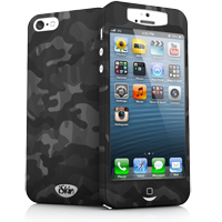 iSkin Inc Slims Case for iPhone 5 - Black Camouflage