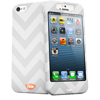 iSkin Inc Slims Case for iPhone 5 - White/Gray/Orange