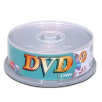 Ridata DVD+RW  8X 4.7GB/120 Minute 25-Pack Spindle