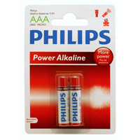 Philips Alkaline AAA Battery 2-Pack
