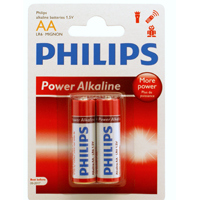 Philips Alkaline AA Battery 2-Pack