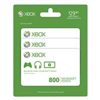 Microsoft Xbox LIVE 800 Point Card 3-Pack
