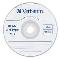 Verbatim 50-Pack BD-R LTH 25GB 4X Spindle