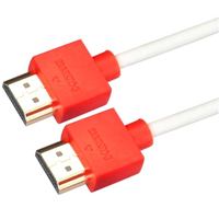 Purex 3' High-Performance UltraSlim HDMI Cable with 3D & 1080p Support - Red & White