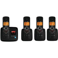 Motorola L704 DECT 6.0 Plus Cordless Phone with Digital Answering System - 4 Handsets