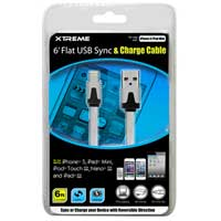 Xtreme Cables 6' Flat USB to 8-Pin Sync & Charge Cable White