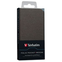 Verbatim Folio Pocket for iPhone 5 - Mocha Brown