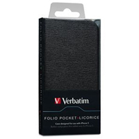 Verbatim Folio Pocket for iPhone 5 - Licorice Black