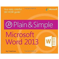 Microsoft Press WORD 2013 PLAIN & SIMPLE
