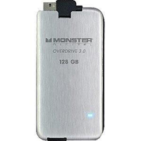 Monster Digital Overdrive 3.0 128GB SuperSpeed USB 3.0 Portable External Solid State Drive (SSD) SSDOU-0128-A