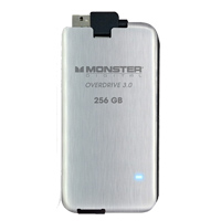 Monster Digital Overdrive 256GB USB 3.0 Solid State Drive - Brushed Stainless Steel