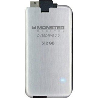 Monster Digital Overdrive 3.0 512GB SuperSpeed USB 3.0 Portable External Solid State Drive (SSD) SSDOU-0512-A
