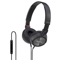 Sony MDR-ZX300IP Stereo Headphones Black