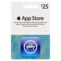 Apple iTunes Apps Card - $25