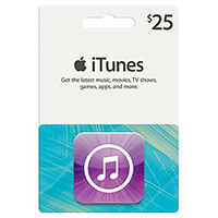 Apple iTunes - Icons Card $25